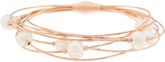 Honora Cultured Pearl Multi-Strand Sterling Bracelet