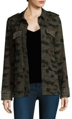 L'Agence Cromwell Studded Camo Military Jacket