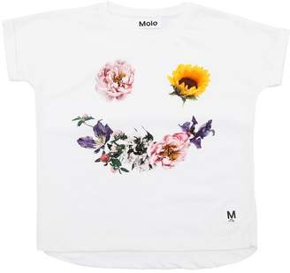 Molo Flower Smile Cotton Interlock T-Shirt