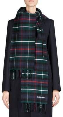 Balenciaga Flannel Plaid Hoodie Scarf