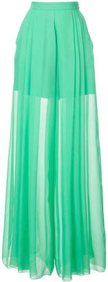 DELPOZO sheer flared trousers