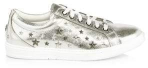 Jimmy Choo Metallic Leather Star Stud Sneakers