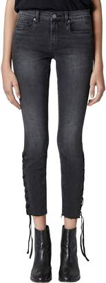 Blank NYC BLANKNYC The Reade Lace Up Hem Crop Skinny Jeans