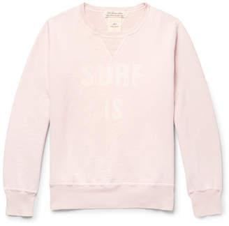 Remi Relief Distressed Printed Loopback Cotton-Jersey Sweatshirt