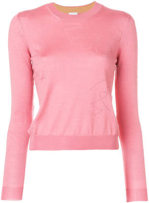 Paul Smith embroidered fitted sweater