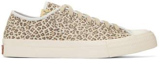 Visvim Brown Leopard Skagway Lo Sneakers