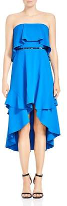 Halston Strapless High/Low Dress