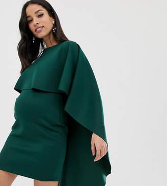 227bb322d3e12 Asos DESIGN Maternity Cape Mini Scuba bodycon dress