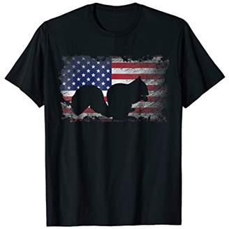 Squirrel T Shirt American Flag USA Patriotic Squirrel Gift