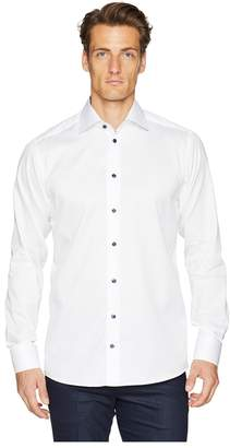 Eton Slim Fit Twill with Printed Collar/Cuff Shirt Men's Clothing
