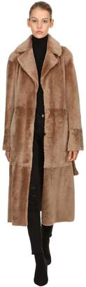 Drome Reversible Fur Coat W/ Belt
