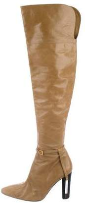 Fendi Leather Over-The-Knee Boots
