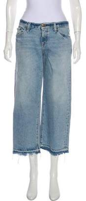 Simon Miller Distressed Mid-Rise Wide-Leg Jeans