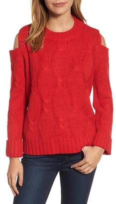 RDI Cold Shoulder Cable Sweater
