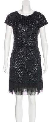 Aidan Mattox Embellished Mini Dress