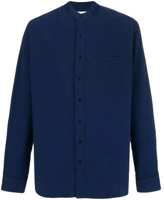 Schnaydermans Leisure seersucker button shirt