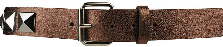 Distressed Studded Metallic Belt