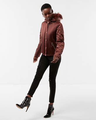Express Satin Puffer Jacket