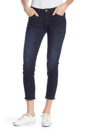 Democracy Mid Rise Seamless Raw Hem Ankle Skinny Jeans