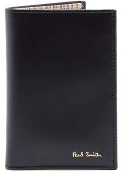 Paul Smith Signature Stripe Leather Cardholder - Mens - Black