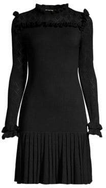 Shoshanna Nicolla Pleated Sheath Dress