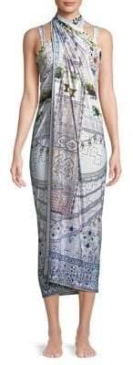 Camilla Printed Long Silk Sarong