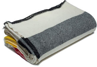 Amana Shops Multi Stripe Wool Blanket