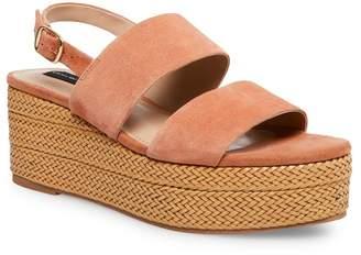 4c7b494919831 Nude Ankle Strap Platform Wedge - ShopStyle
