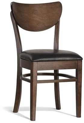 Lynda Rubber Wood Dining Chair Colour: Walnut, Seat: Black Vinyl Cushion