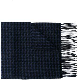 Canali houndstooth pattern scarf $254.75 thestylecure.com