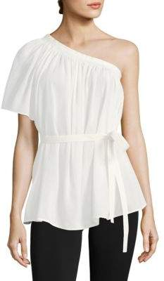 Helmut Lang One-Shoulder Tie-Front Top