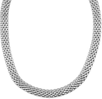 Italian Silver Domed Mesh Necklace, 26.7g