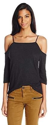 Monrow Women's Cold Shoulder Top