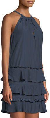 Ramy Brook Leomi Sleeveless Tiered Dress