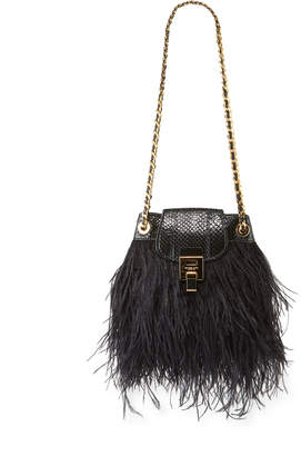 Michael Kors Ostrich Feather Disco Pouch Bag