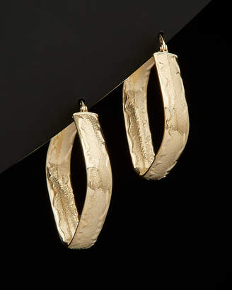 Italian Gold 14K Square Hoop Earrings