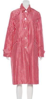 Ralph Lauren Gingham Silk Coat