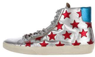 Saint Laurent SL/06 Star-Accented Sneakers