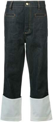 Loewe contrast hem jeans