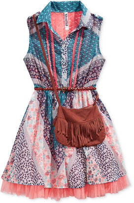 Beautees 2-Pc. Chiffon Shirt Dress & Purse Set, Big Girls (7-16) $56 thestylecure.com