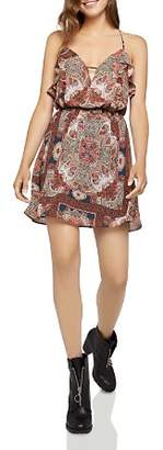 BCBGeneration Ruffled Paisley Print Dress