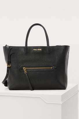 Miu Miu Madras large tote bag