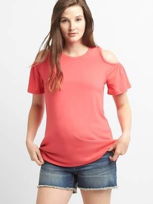 Gap Maternity Softspun Cold-Shoulder T-Shirt