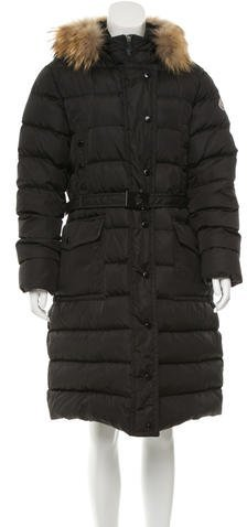 MonclerMoncler Merin Fur-Trimmed Coat