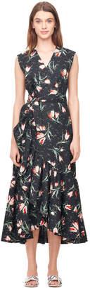 Rebecca Taylor Ikat Tulip Poplin Wrap Dress