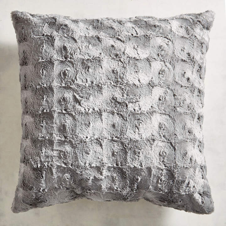 Fuzzy Charcoal Pillow