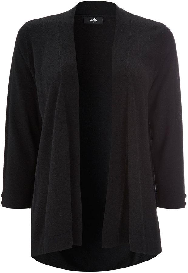 Wallis Black Kimono Cardigan