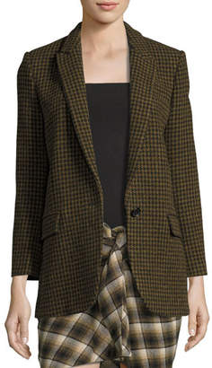 Etoile Isabel Marant Ice Check One-Button Blazer