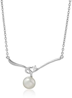Bella Pearl Fancy Cubic Zirconia Pearl Pendant Necklace
