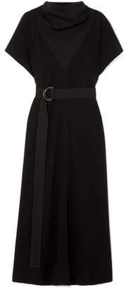 Givenchy Belted Jersey Midi Dress - Black